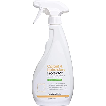 Syntec Profab carpet fabric and upholstery stain protection spray fluid.