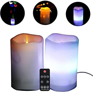 flameless candle string lights