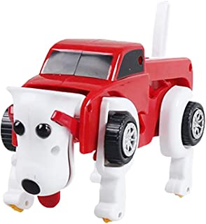 Transformer Dog Car Toy,Lumumi Novelty Clockwork Wind Up Automatic Deformable Toy Kids Gift