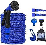 Flexibler Gartenschlauch, 30m/100FT Flexischlauch Gartenschlauch Schlauch Dehnbar Wasserschlauch flexibel, Gartenteichschlauch Dehnbar, Blau