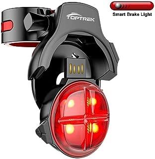TOPTREK Bike Tail Light Smart Sensing Bicycle Rear Brake...