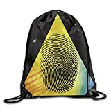 uykjuykj Bolsos De Gimnasio,Mochilas,Graffiti Art Rainbow Skateboarder Sports Bag Yoga Backpack Lightweight Unique 17x14 IN