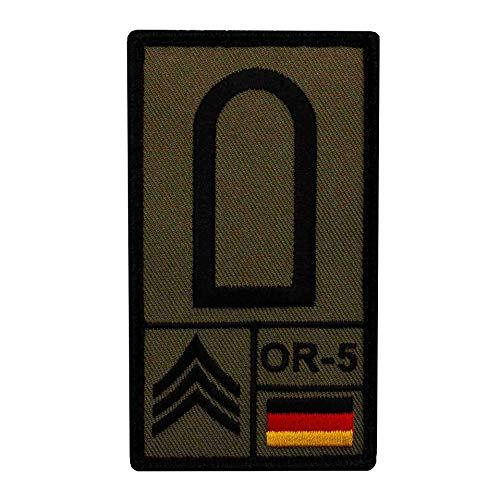 Café Viereck ® Stabsunteroffizier Bundeswehr Rank Patch mit Dienstgrad - Gestickt mit Klett – 9,8 cm x 5,6 cm