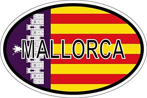 Akachafactory sticker nationale kentekenplaat vlag vlag Mallorca
