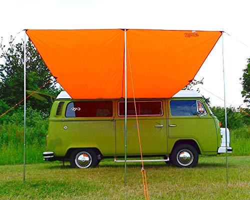 Debus Wohnmobil Sonnensegel + T2 T25 Verbindungsset, strahlendes Orange