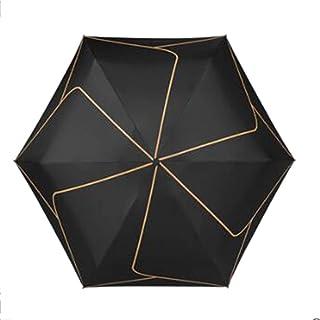 Umbrella مظلة مظلة المطر وملفترتيفلون طارد مظلات الشمس حماية الشمس مع الغراء الأسود المضاد للأشعة فوق البنفسجية السفر مظلة...