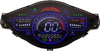 Romacci Moto LCD Odômetro Velocímetro Digital Tacômetro Elétrico 14000RPM 199km / h com LED Backlight Compatível com Wave1...