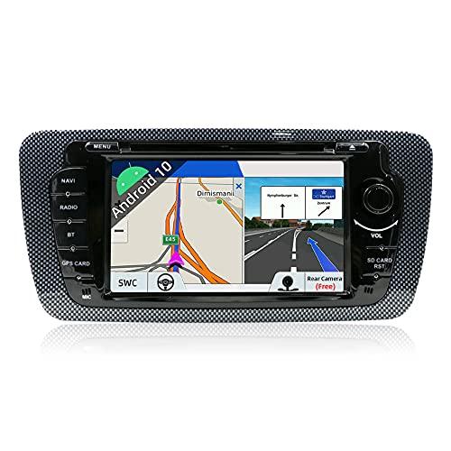 JOYX Android 10 Autoradio para Seat Ibiza (2009-2013) - [2G+32G] - Gratis Cámara Canbus - 7 Pulgada - GPS 2 DIN - Apoyo Dab 4G WLAN Bluetooth5.0 Carplay Mandos de Volante Android Auto Split Sc