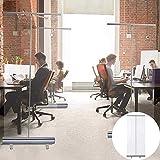 ZYLHC Partition Transparent Office Partition Piedra de pie Estudio de estornudos, Roll Up Sreteeze Guard Suelo de pie Enamorarse de la pantalla estornuda, pantalla protectora