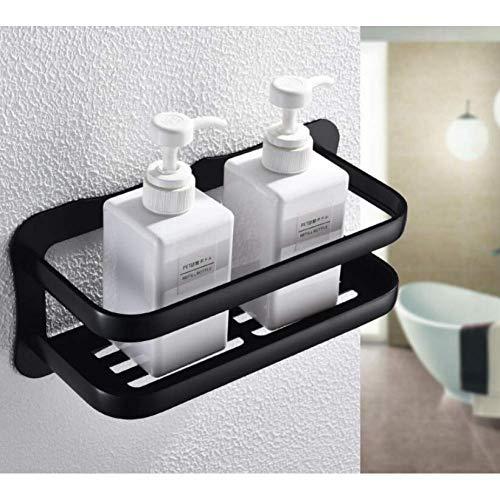 XBR Bathroom Shower Caddies Wall Mounted Black Aluminum Allory Bathroom Soap Dish Bathtub Shower Bathroom Shelf Shampoo Holder Basket Corner Holder Shelf