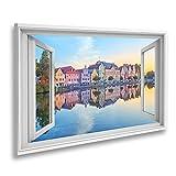 Bild auf Leinwand Fensterblick Landshuter Altstadt Bayern