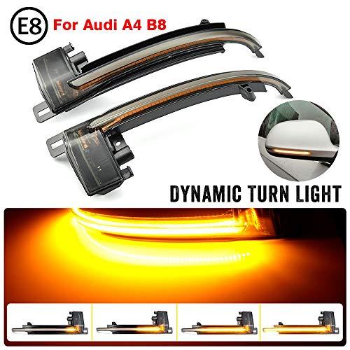 HHF Signalbeleuchtung 2ST LED Dynamische Blinkerleuchte for Audi A4 A5 B8 B8.5 A3 8P Q3 A6 C6 S6 SQ3 A8 D3 8K Flasher Flüssiges Wasser Blinker Blinklicht (Leuchtfarbe : B8)