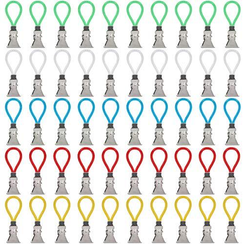 UCEC 50x Bunte Clip-Aufhänger Handtuchhalter-Clips, Strandtuchclip Handtuchclips, Bad & Küchen Zubehör