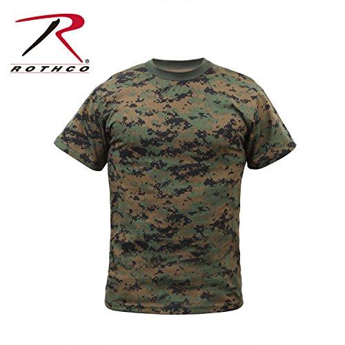 Rothco Kids T-Shirt, Woodland Digital Camo, Medium