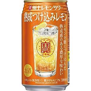 宝酒造 極上レモンサワー 熟成つけ込みレモン 焼酎とレモンにとことんこだわった焼酎の旨さをベースとしたレモンサワー [ チューハイ 350ml×24 ]