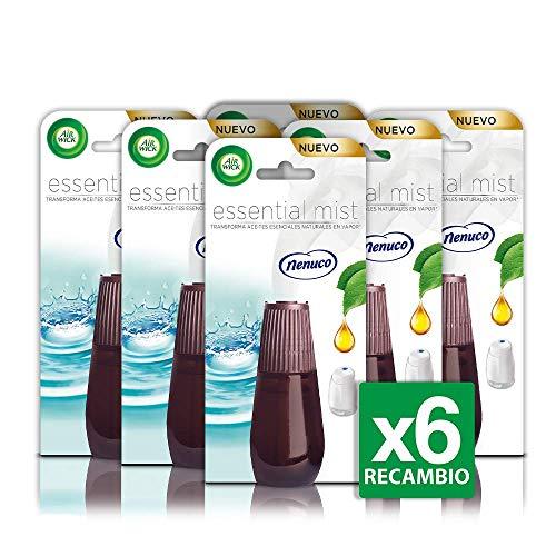 Air Wick Essential Mist Recambio Ambientador Nenuco - Paquete de 6 Recambios