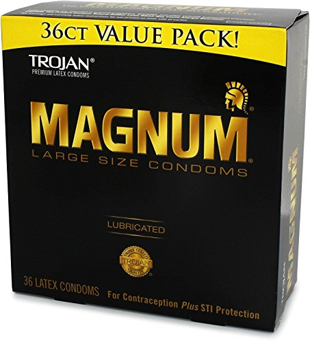 Trojan MAGNUM Lubricated Condoms - Large - (36 Count) - Value Pack