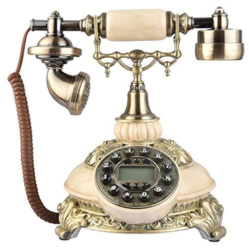 ZARTPMO Magnífico teléfono de Resina Retro Europeo teléfono Fijo Europeo Antiguo teléfono Antiguo