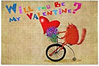 ロマンチックなオレンジ色の猫のジグソーパズル500ピースは私のバレンタインDIYウォールアート大人のための知的減圧楽しいゲーム10代