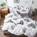 DOTBUY Parure de lit, 4 pièces Housse de Couette Microfibre Confortable Ensemble de Literie Chambre...