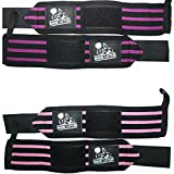 Wrist Wraps (2 Pairs/4 Wraps)for Weightlifting/Cross Training/Powerlifting-For Women & Men-Premium Quality Equipment & Accessories for the Absolutely Best Hand Strength-(Pink & Purple)-1 Year Warranty
