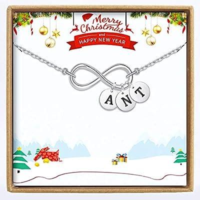 Amazon - Save 65%: Yoke Style Initial Disc Necklace Personalized, Customized Infinity Name…