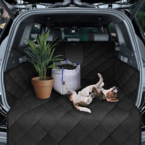 Dunlop Kofferraumschutz Schutzmatte Hunde Zubehör - Blitzeinbau der rutschfesten Wasserdichten Kofferraumdecke mit Auto Ladekantenschutz I Kofferraum Hundedecke Hundematte Schutz Kofferraummatte Hund