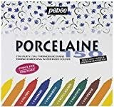 Pebeo Porcelaine 150 - Juego de rotuladores brillantes para cristal (trazo fino), varios colores