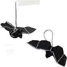 Halloween Bristle Brush Buri Black Bat Ornament [HW1719A]