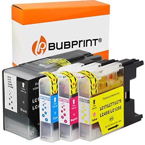 Bubprint 4 Druckerpatronen kompatibel für Brother LC-1280 XXL LC1280XXL LC 1280 XXL für MFC-J5910DW MFC-J6510DW MFC-J6710DW MFC-J6910DW BK/C/M/Y