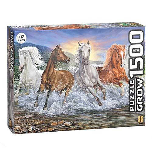 Grow - Cavalos Selvagens Quebra-Cabeça 1500 Peças, 12+ Anos, Multicor, (Grow 03744)