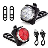 Bike Light Set, Super Bright Front and Rear Bicycle Lights, with 4 Light