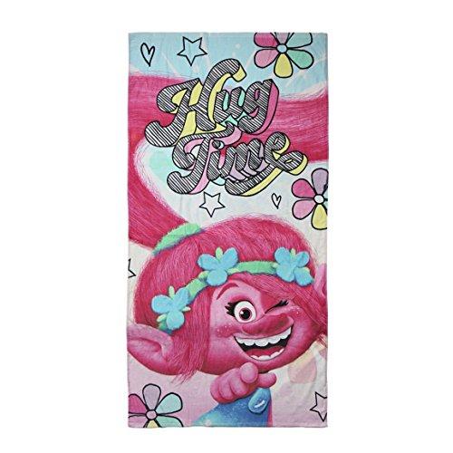 Trolls-2200002800 Toalla Playa y Piscina, Estampado, Color (Multicolor 001), 3 (Tamaño del Fabricante:M) (Artesania Cerda 2200002800)