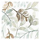 Vinilo Adhesivo para Muebles y Pared, 40 x 200 cm, Hojas de Primavera, Multicolor, VNL-102