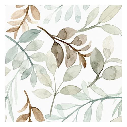 Vinilo Adhesivo para Muebles y Pared, 40 x 500 cm, Hojas de Primavera, Multicolor, VNL-102