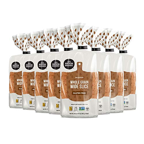 Little Northern Bakehouse Gluten Free Wide Sliced Whole Grain Bread, Non-GMO and Allergy-Friendly Bread (8 pack, 20 oz. each)