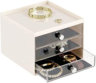 Bo/îte /à bijoux en bois laqu/é miroir 27x18x16cm marron
