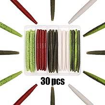 XFISHMAN Senko Worms Bass Fishing Lure Kit 30 pk Wacky Rig Worms Soft Plastic Stick Baits 4