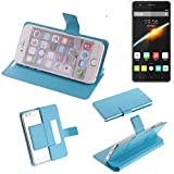 K-S-Trade Flipcover für Cubot S500 Schutz Hülle Schutzhülle Flip Cover Handy case Smartphone Handyhülle blau