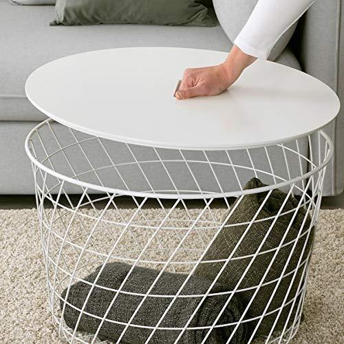 DescountSeller KVISTBRO Mesa de almacenamiento, color blanco, 61 cm duradero y fácil de cuidar. Mesas auxiliares y mesas auxiliares. Mesas y escritorios. Muebles respetuosos con el medio ambiente.