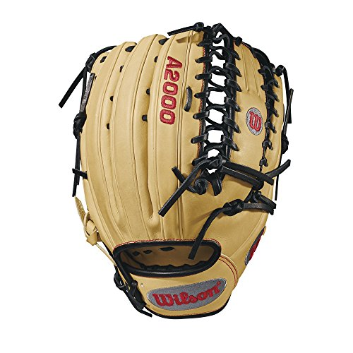 Wilson A2000 12.75-Inch SuperSkin Baseball Glove, Blonde/Black/Red,...
