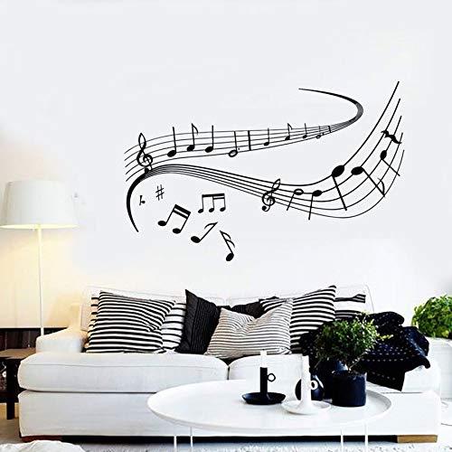 Tianpengyuanshuai muurstickers noten muziek dansen voucher vinyl muursticker slaapkamer woonkamer muziek klaslokaal concert decoratie