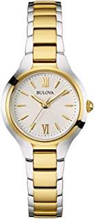Bulova Women's Quartz Watch Metal Bracelet analog Display and Stainless Steel Strap, 98L217