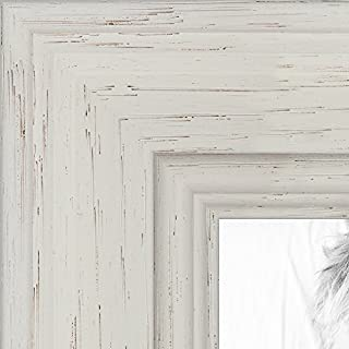 ArtToFrames 20x20 inch Off White Stain on Solid Wood Wood Picture Frame, WOM0066-78238-YWHT-20x20