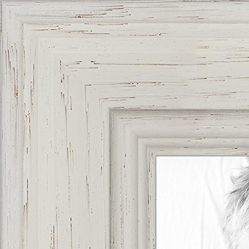 ArtToFrames 20x24 Inch Off White Stain On Solid Wood Wood Picture Frame WOM0066 78238 YWHT 20x24