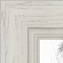 ArtToFrames 16x20 inch Off White Stain on Solid Wood Wood Picture Frame, WOM0066-78238-YWHT-16x20