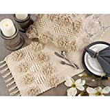 Material: cotton , color: cream ( 14 x 64 ) Durable and high quality merchandise.A sophisticated addition to your 3M Broadway Easy to maintan Exclusive product & Gives luxurious look to your table Washcare : Hand and machine Washable