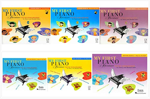 My First Piano Adventure Complete Books Set (6 Books) - Lesson Book A, B, C & Writing Book A, B, C