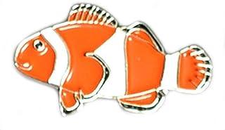 Mainly Metal Metallo Smalto Spilla Badge Spilla Orange & Bianco Clown Pesce (Nemo)