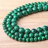 DOOLY Perles Vertes malachites 4-12mm Vert Pierre Jeunesse Naturelle Péles Rondes Douces polies pour Bijoux Bracelets Bracelets Collier Craft